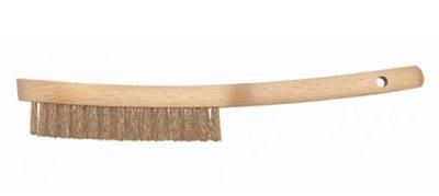Staalborstel, 3-rijig, L 260 mm, houten greep